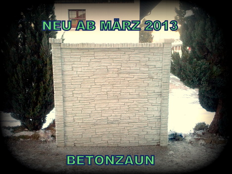 Betonz Une betonzaun betonzäune umgebungsbau 028999267224