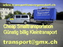 Kleintransporte Warentaxi Transporttaxi ab Fr. 40 Zürich
